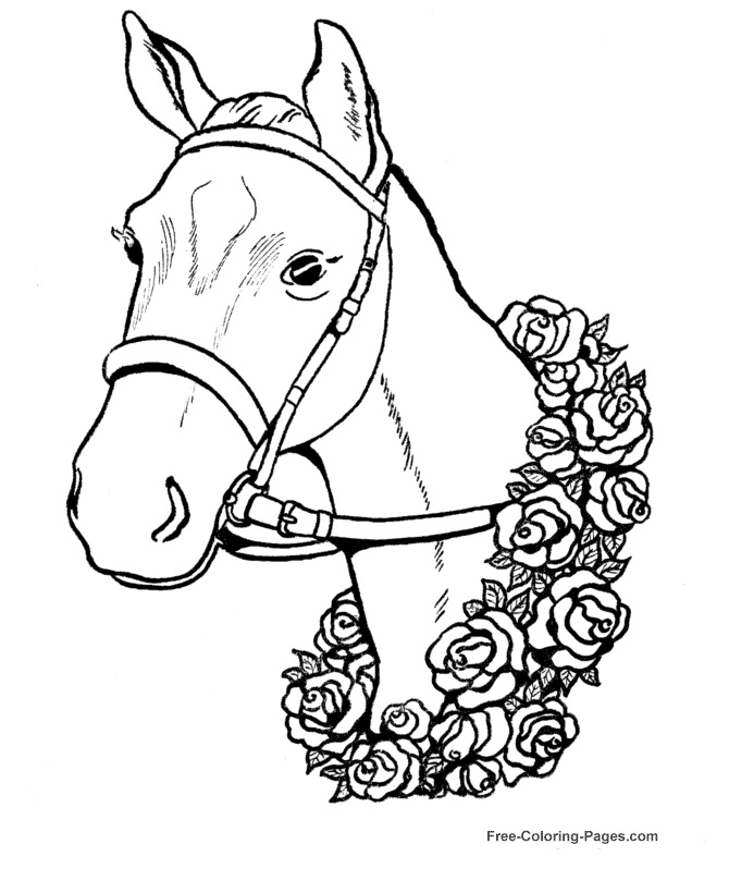holiday horse coloring pages - photo#32